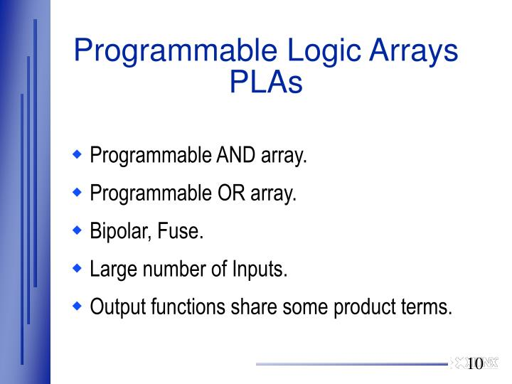 Programmable Logic Arrays