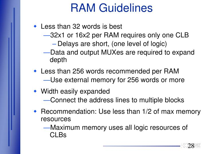 RAM Guidelines