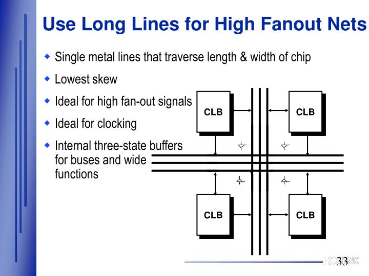 Use Long Lines for High Fanout Nets