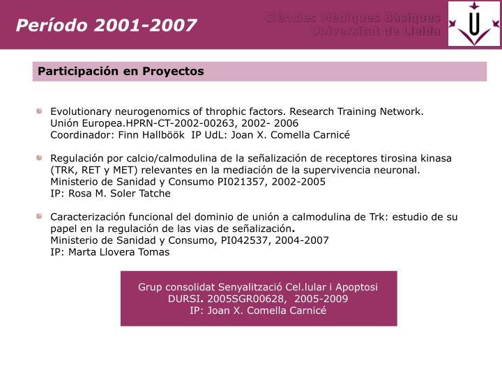 Período 2001-2007
