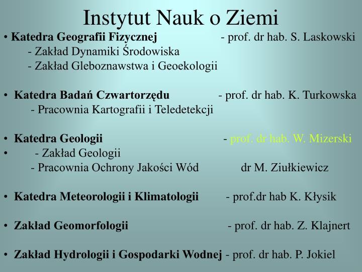 Instytut Nauk o Ziemi