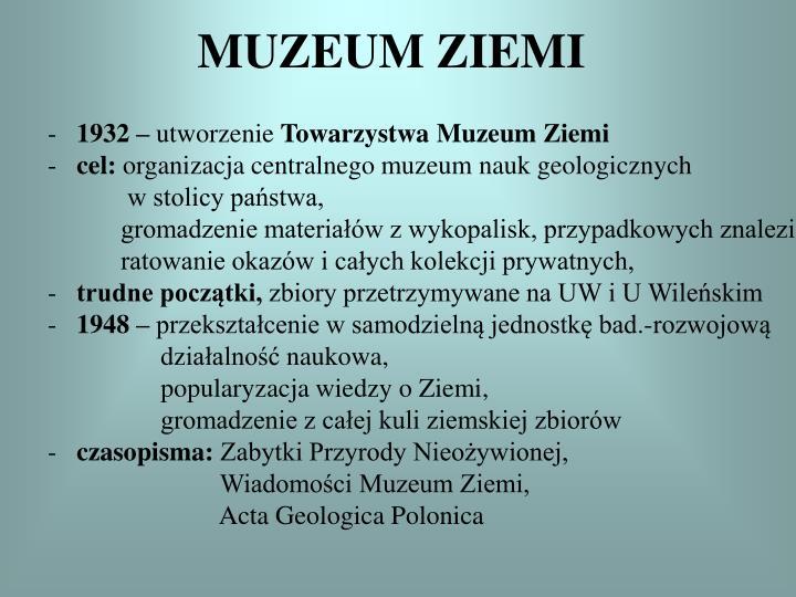 MUZEUM ZIEMI