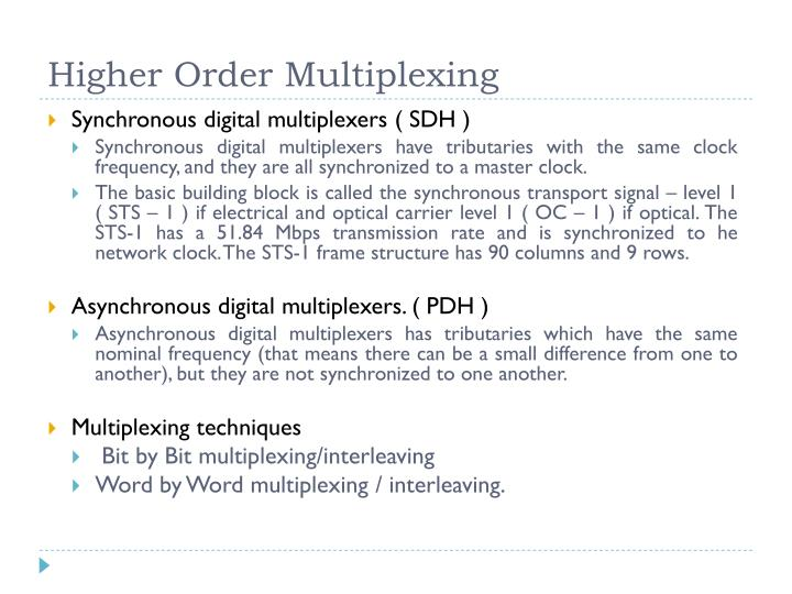 Higher Order Multiplexing