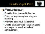 leadership plcs1
