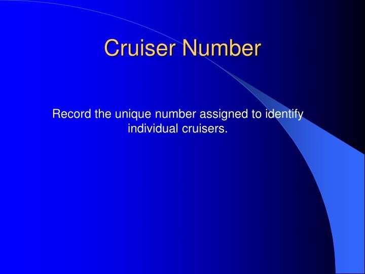 Cruiser Number