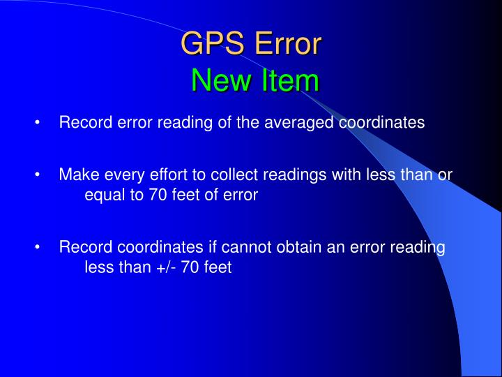 GPS Error