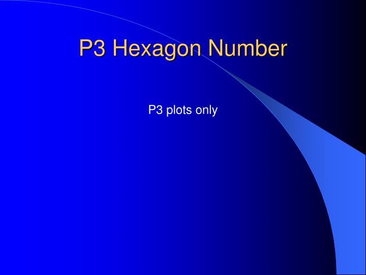 P3 Hexagon Number