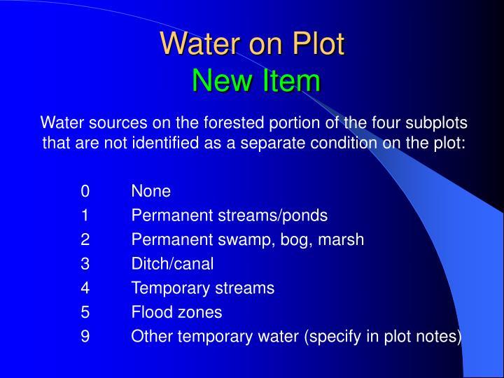 Water on Plot