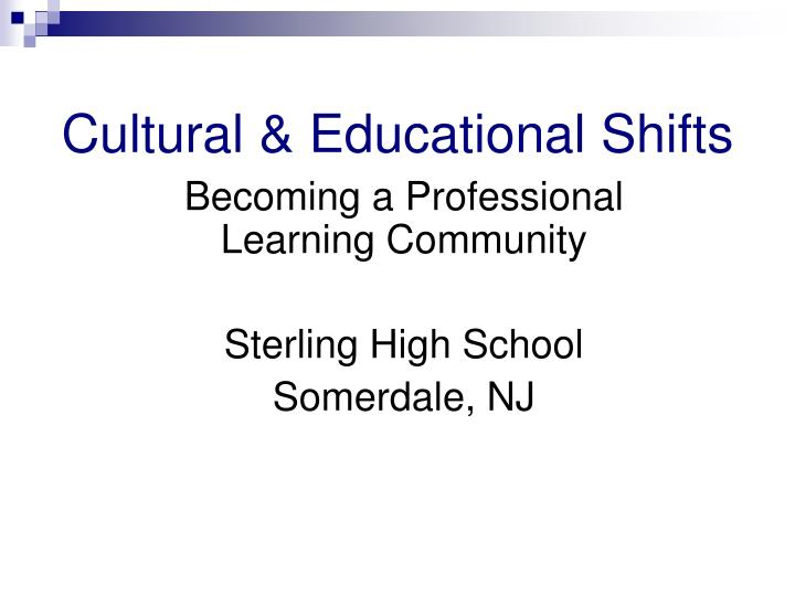 Becoming a Professional Learning Community