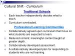 cultural shift curriculum