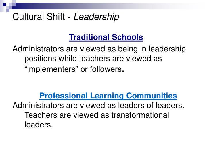 Cultural Shift -