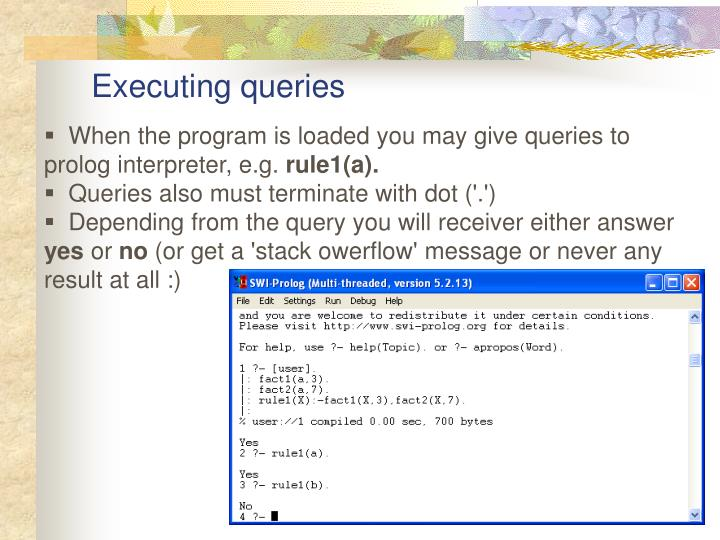 Executing queries