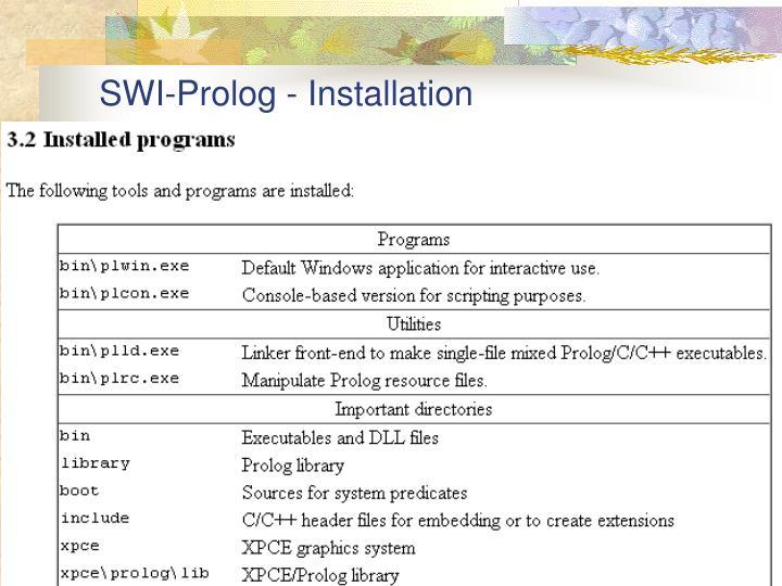 SWI-Prolog - Installation