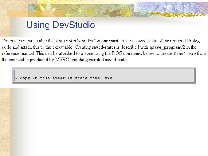 Using DevStudio
