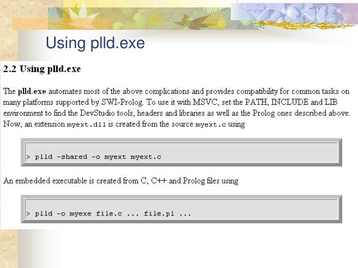 Using plld.exe