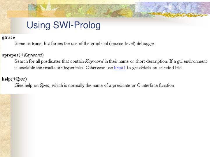 Using SWI-Prolog
