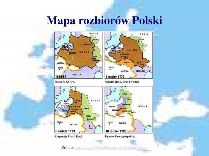 Mapa rozbiorów Polski