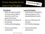 from standards to learning targets