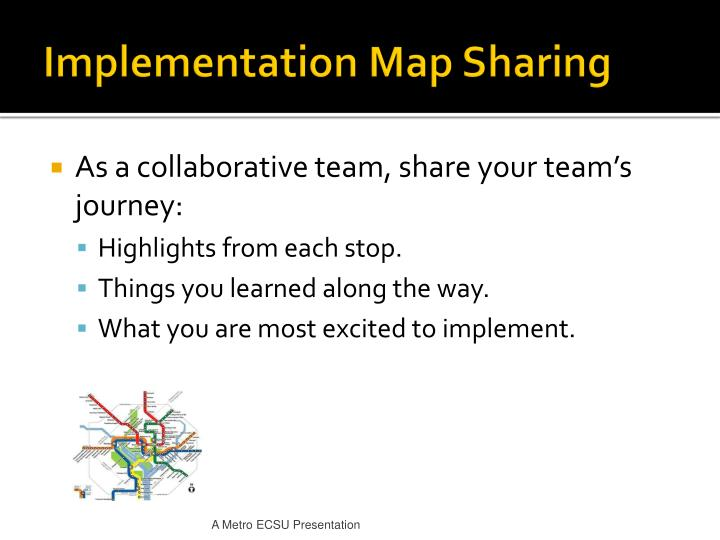 Implementation Map Sharing