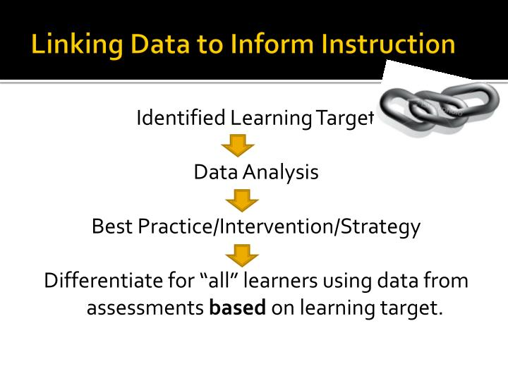 Linking Data to Inform Instruction