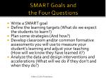 smart goals and the four questions