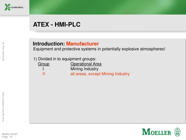 ATEX - HMI-PLC