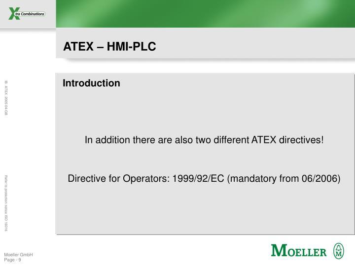 ATEX – HMI-PLC