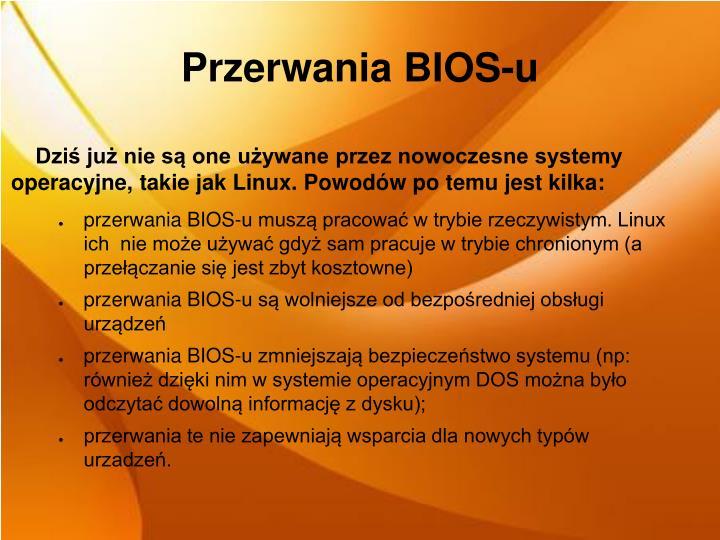 Przerwania BIOS-u