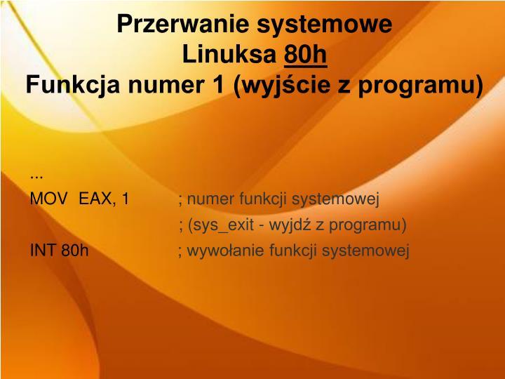 Przerwanie systemowe