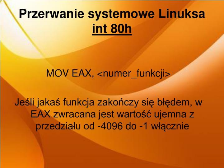Przerwanie systemowe Linuksa