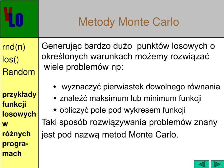 Metody Monte Carlo