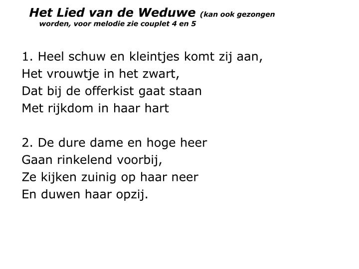 Het Lied van de Weduwe