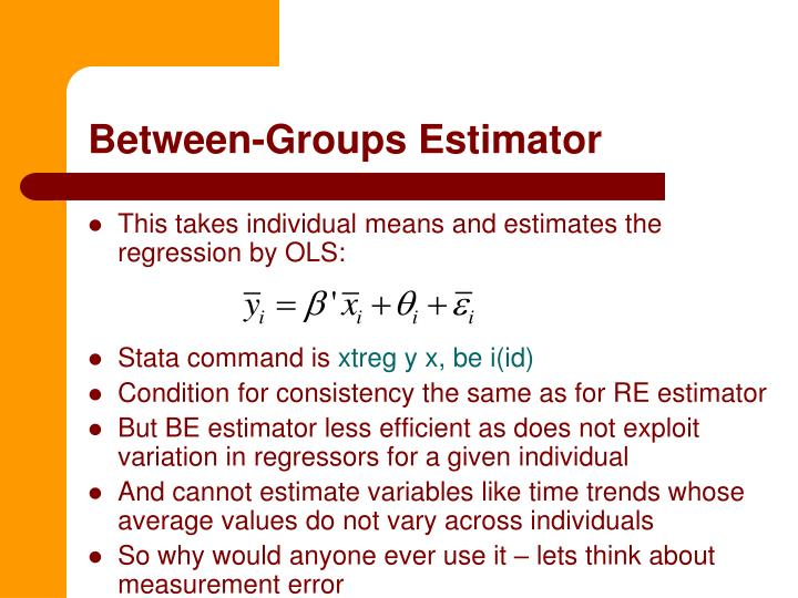 Between-Groups Estimator