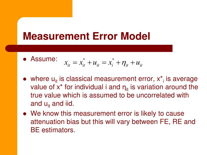 Measurement Error Model