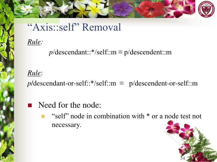 """Axis::self"" Removal"