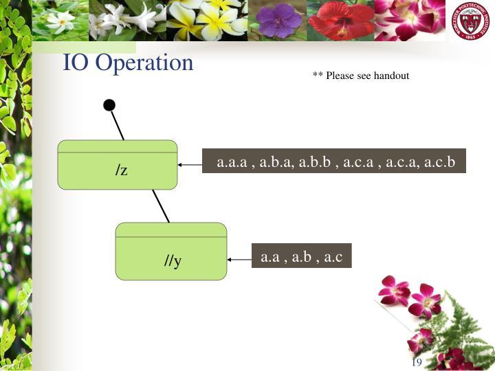 IO Operation