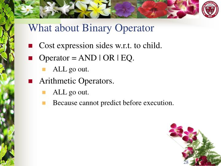 What about Binary Operator