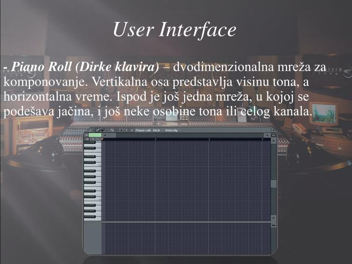 User Interface