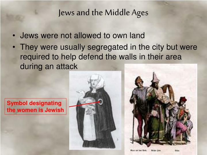 Jews were not allowed to own land