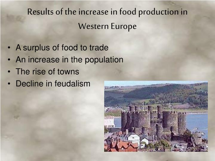 Results of the increase in food production in Western Europe