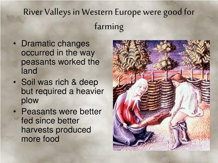 Dramatic changes occurred in the way peasants worked the land