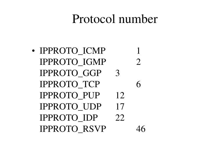 Protocol number