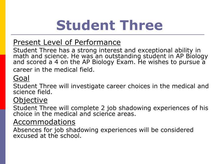 Student Three