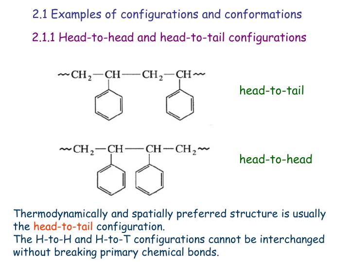 2.1 Examples of configurations and conformations