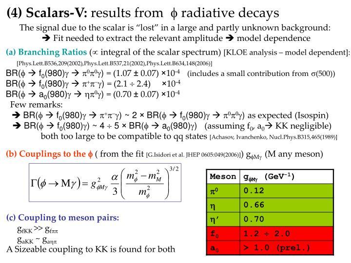 (4) Scalars-V: