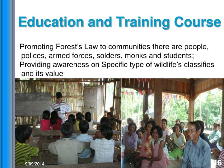 Education and Training Course