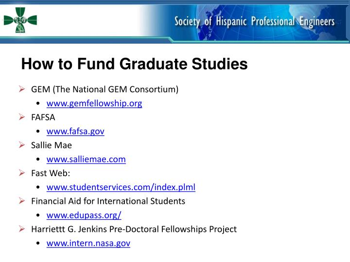 How to Fund Graduate Studies