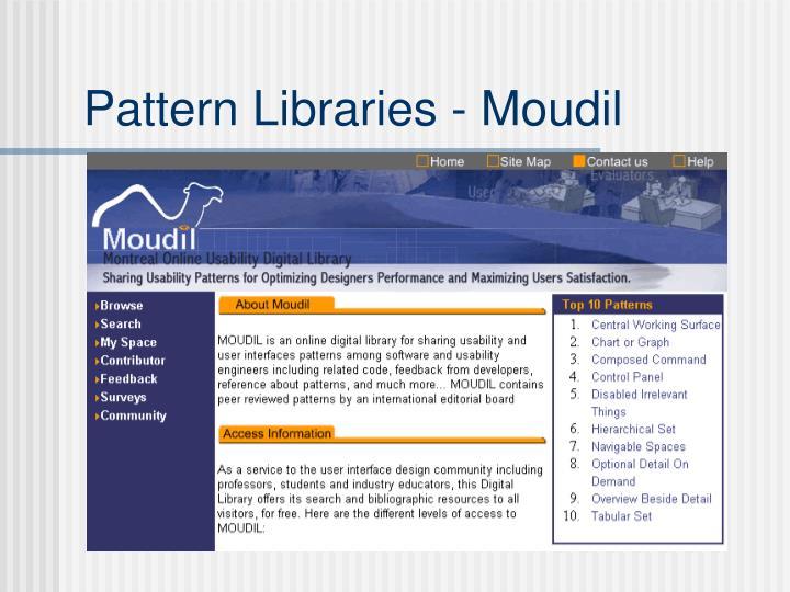 Pattern Libraries - Moudil