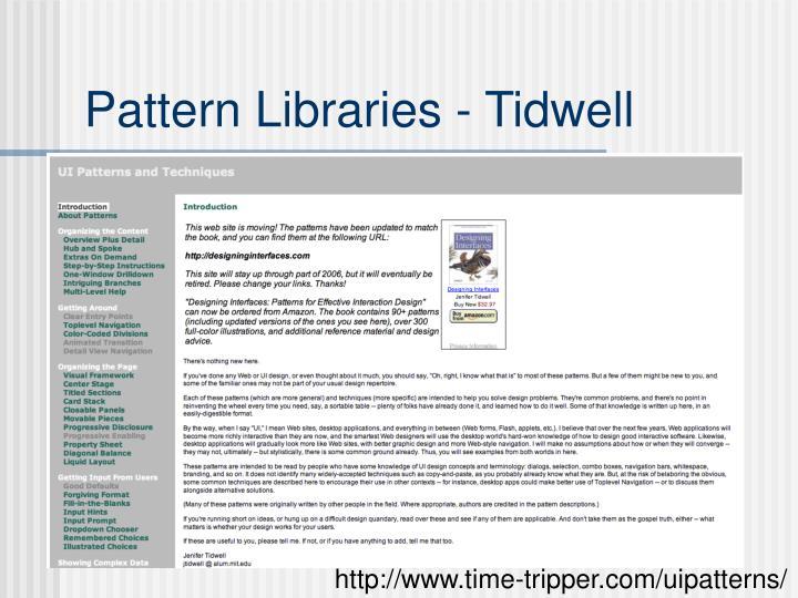 Pattern Libraries - Tidwell