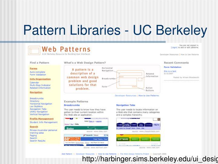 Pattern Libraries - UC Berkeley